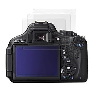 3x kwmobile® film de protection pour écran MAT et ANTI-REFLETS avec effet anti-traces de doigts pour Canon EOS 600D. QUALITÉ SUPÉRIEURE