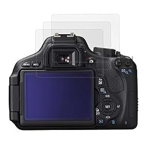 3x kwmobile film de protection pour écran MAT et ANTI-REFLETS avec effet anti-traces de doigts pour Canon EOS 600D. QUALITÉ SUPÉRIEURE
