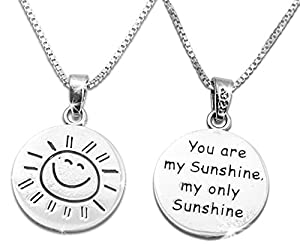 """Amazon.com: Sterling Silver """"You Are My Sunshine My Only ..."""
