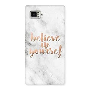 Cute Believe Your Self Printed Back Case Cover for Vibe Z2 Pro K920