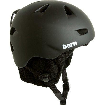 Bern Brentwood Matte Black  Black Audio Helmet