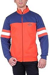UCC Men's Fleece Regular Fit Sweatshirts (UCC6031ORANGE-XXL)