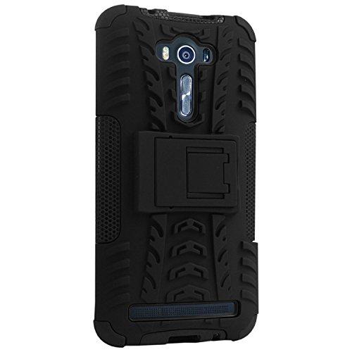 brand new 93287 67fa4 DMG Rugged Back Cover Kickstand Armor Case for Asus Zenfone 2 Laser ZE500KL  5inch (Black)