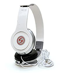 Signature VM-46 Stereo Bass Solo Headphones - White, Moto G Plus, 4th Gen Compatible