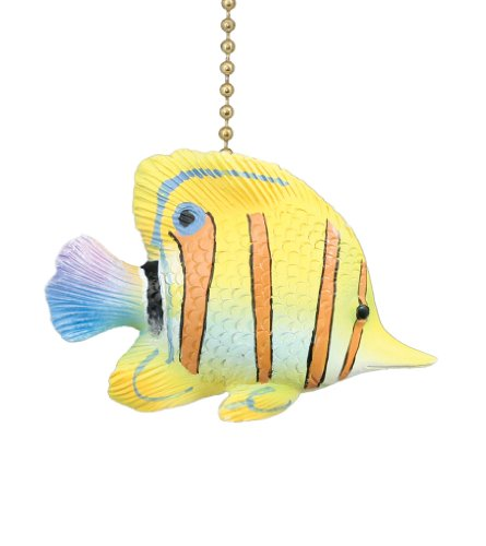 Tropical Yellow Angelfish Ceiling Fan Light Pull