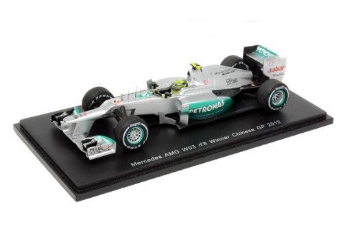 スパークモデル 1/43スケール メルセデス AMG ペトロナス F1 チーム W03 No.8/2012 中国GPウィナー ニコ・ロズベルグ