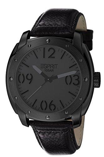 Esprit Baker ES106381004 - Reloj para hombres, correa de cuero color negro