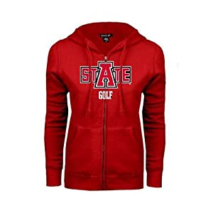 Arkansas State Ladies Red Fleece Full Zip Hoodie 'Golf' - Small