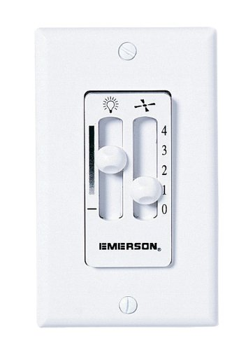 Emerson SW90LA Dual Slide Fan Speed and Light Wall Control, Light Almond