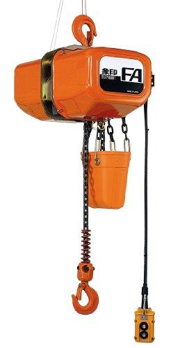 Elephant Lifting Fa Series Fa-2-15 3-Phase Electric Chain Hoist, Single Speed, 4400 Lbs Capacity, 15' Lift , 12.5 Fpm Lift Speed, 2.18 Hp, 230V/460V/60Hz