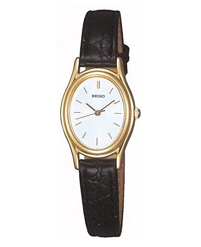Seiko Women's SXGA82 silver Dial Leather Watch