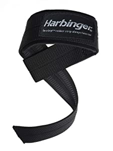 Harbinger 20500 Big Grip No-Slip Padded Nylon Lifting Straps