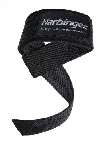 Harbinger Big Grip No-Slip Nylon Lifting Straps with DuraGrip (Pair), Padded (Lifting Straps Padded compare prices)