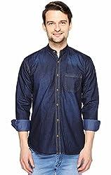 Brukers by Fasnoya Men's Slim Fit Denim Shirt