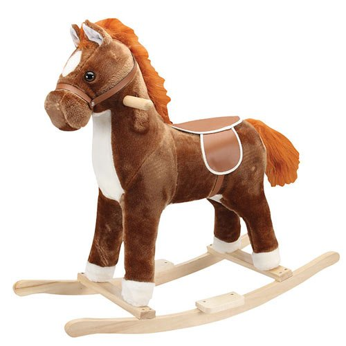 Charm-Company-Pinto-Horse-Rocker-with-Cowboy-Music-Brown