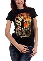 The Hunger Games - Girl On Fire Poster Juniors T-Shirt In Black