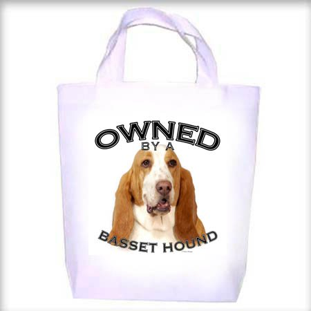 Basset Hound BI Owned Shopping - Dog Toy - Tote Bag