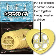 SockIt! Sock Locks - Keep Your Socks Together in the Washer & Dryer (package of 10 Gold Hearts)