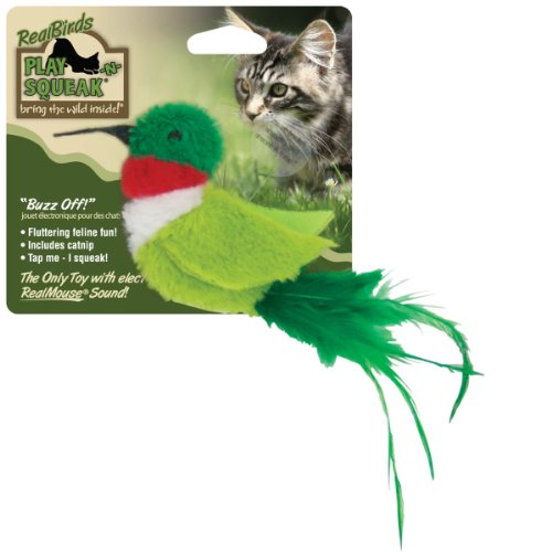 Good OurPets Real Birds Buzz Off Squeaking Cat Toy