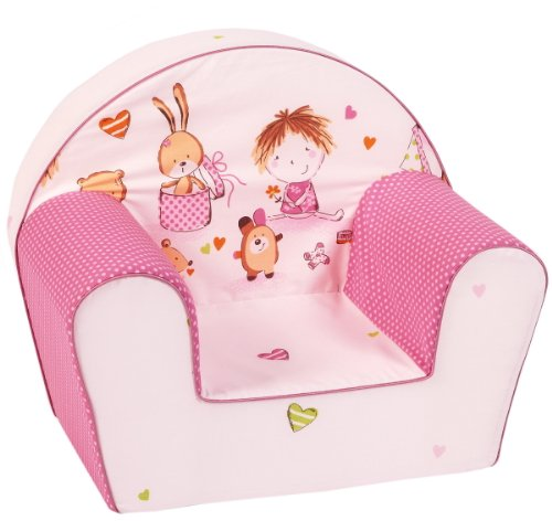 knorr-baby 490167 Kindersessel Spielzimmer, pink-rosa