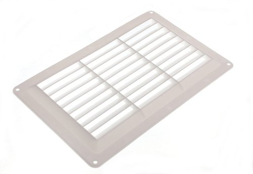 Fixed Louvre Air Vent Grille Grate For Openings Up To 9 X 6 229Mm X 152Mm (Gold Vent Cover compare prices)