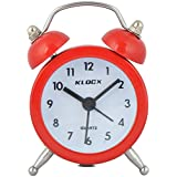 Klocx Plastic Alarm Table Clock (Tc-R2, Red, 7 Cm X 5 Cm)