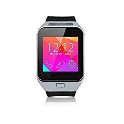 Mobilegear Bluetooth Smart Wrist Watch Mobile Phone with SIM Slot,Camera & Android iOS Connectivity