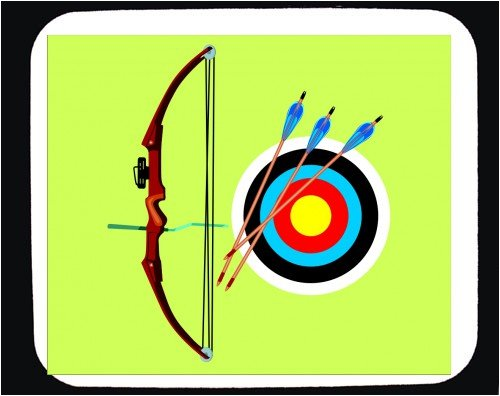 Decorated Mouse Pad with archery image