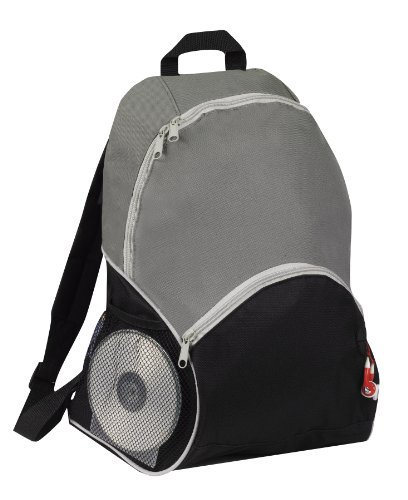 Sports Backpack Bookpack with Ipod Port, Gray by BAGS FOR LESSTM - 1