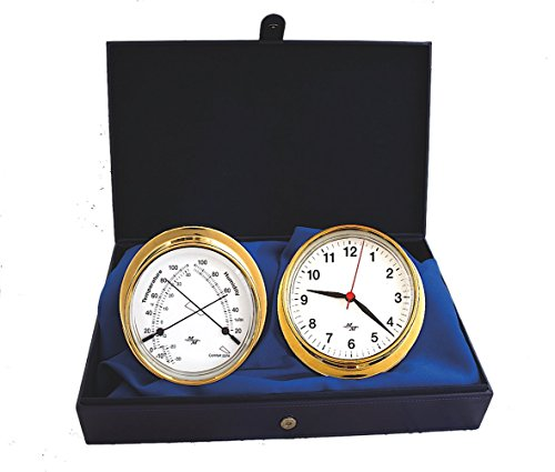 White Dial 5.75 Cabin Gift Set presented in a Leather Finish Felt Lined Gift Box with Clock and Comfort Meter (The Master Mariner compare prices)