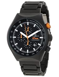 Montres De Luxe Men's 45 MM BLACK Quartz Chronograph Black Dial Watch