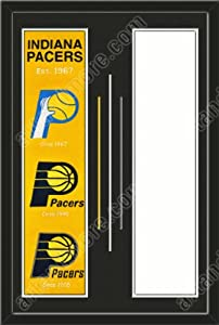Indiana Pacers & Your Choice of other Team Heritage Banner Framed-House... by Art and More, Davenport, IA