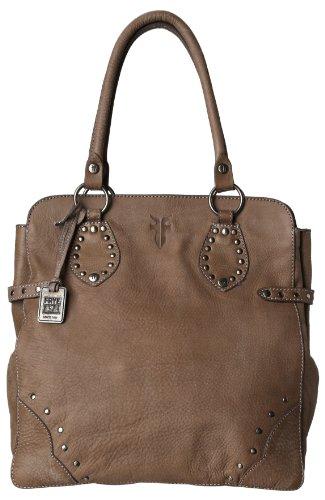 FRYE Vintage Stud Tote Handbag,Grey,one size