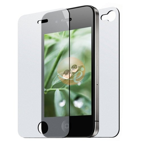 3 Front & 3 Back Reusable Screen Protector for Apple iPhone 4