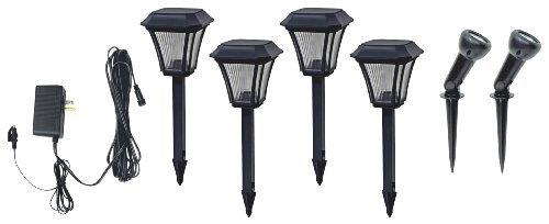 Brinkmann 828-0303-6 4 Plastic Path Light And 2 Spotlights Led Outdoor, Home, Garden, Supply, Maintenance