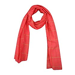 FabSeasons Pink Chexs Cotton Scarf, Scarves, Stole and Shawl for Men & Women