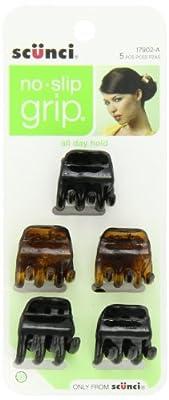 Scunci No-slip Grip Chunky Jaw Clips