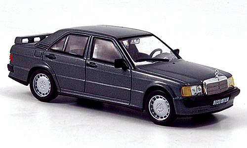 Mercedes 190E (W201) 2.3-16V, met.-anthrazit, 1984, Modellauto, Fertigmodell, WhiteBox 1:43