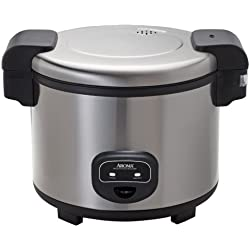 Aroma Housewares 60-Cup (Cooked) (30-Cup UNCOOKED) Commercial Rice Cooker, Stainless Steel Exterior (ARC-1130S)
