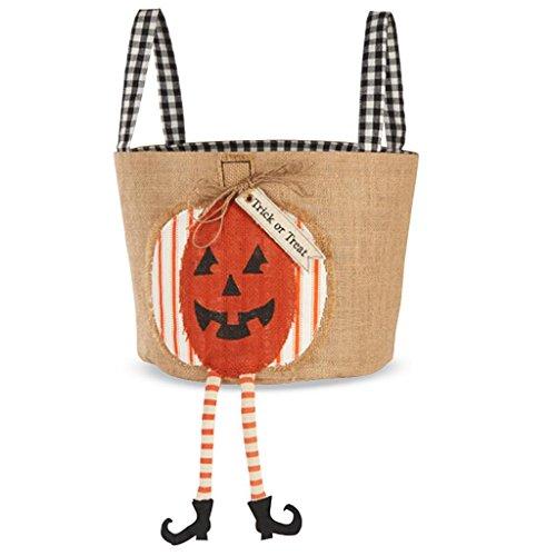 Mud Pie Halloween Burlap Treat Bucket (Pumpkin) (Mud Pie Bucket compare prices)