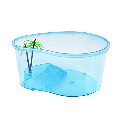 Turtle tanks Small OMEM Only Suitable for Small Turtle,Newborn Small Turtles, Tortoise Tank Reptile Habitat Turtle ,Aquariums Small,for Tortoise, Crab, other Small Aquatic Animals (55 Gallon Tank Glass Lid compare prices)