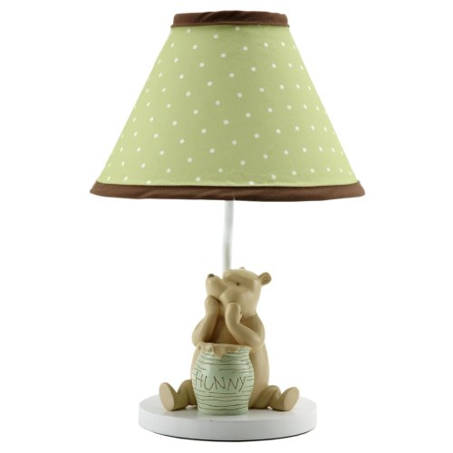 Disney My Friend Pooh Lamp and Shade, Sage/Ivory