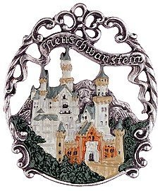 Neuschwanstein Castle German Pewter Christmas Ornament from Kuehn
