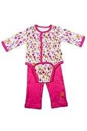 Magnificent Baby-Girls Newborn Burrito Bodysuit And Pant Set, Kites, 6 Months