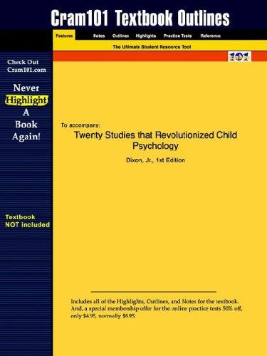 Studyguide for Twenty Studies that Revolutionized Child Psychology by Dixon, ISBN 9780130415721 (Cram101 Textbook Outlin