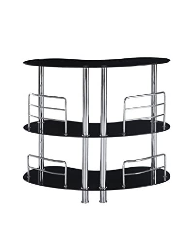 Luxury Home Contemporary Bar Table, Black