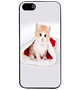 PrintDhaba Cute Kitty D-2115 Back Case Cover for APPLE IPHONE 4S (Multi-Coloured)