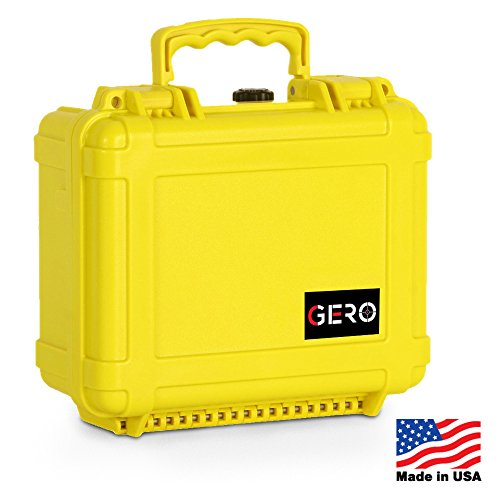 Gero Watertight Pistol Gun Case ABS Plastic Gun and Ammo Customizable Foam Conforms to MIL-STD-810F Transit Drop Test and Immersion Test and SAE J575 Dust Resistant Test Holds Up To 2 Pistols (Negrini Gun Cases compare prices)