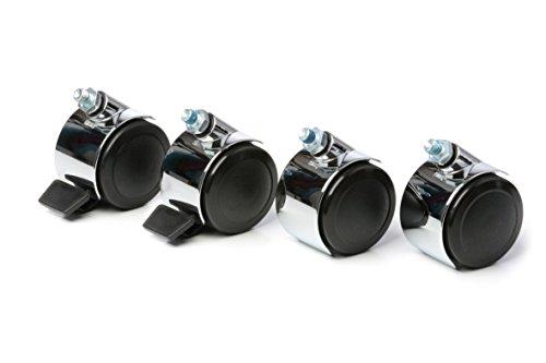 4-Stck-Lenkrolle-fr-USM-Haller-System-2-Stck-Lenkrolle-mit-Arretierung