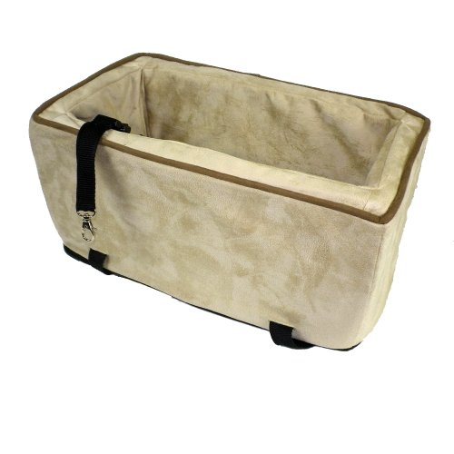 Snoozer Luxury Console Pet Car Seat, Buckskin & Java, Small front-929384